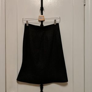 Uniqlo grey wool classic pencil skirt in size 2